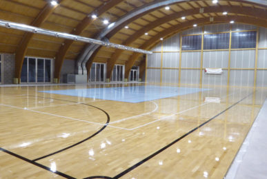 Sports parquet Dalla Riva for the multipurpose gym in Vidor
