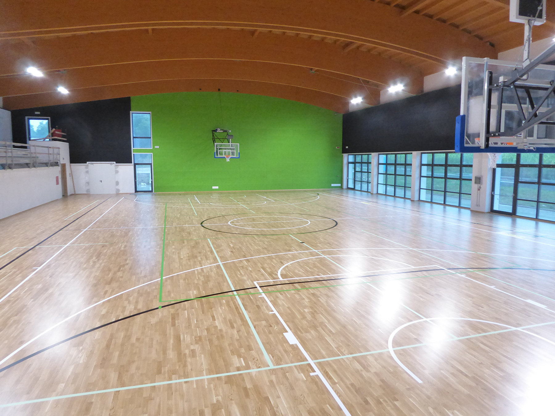 The top of the fixed flooring to host excellent sporting events