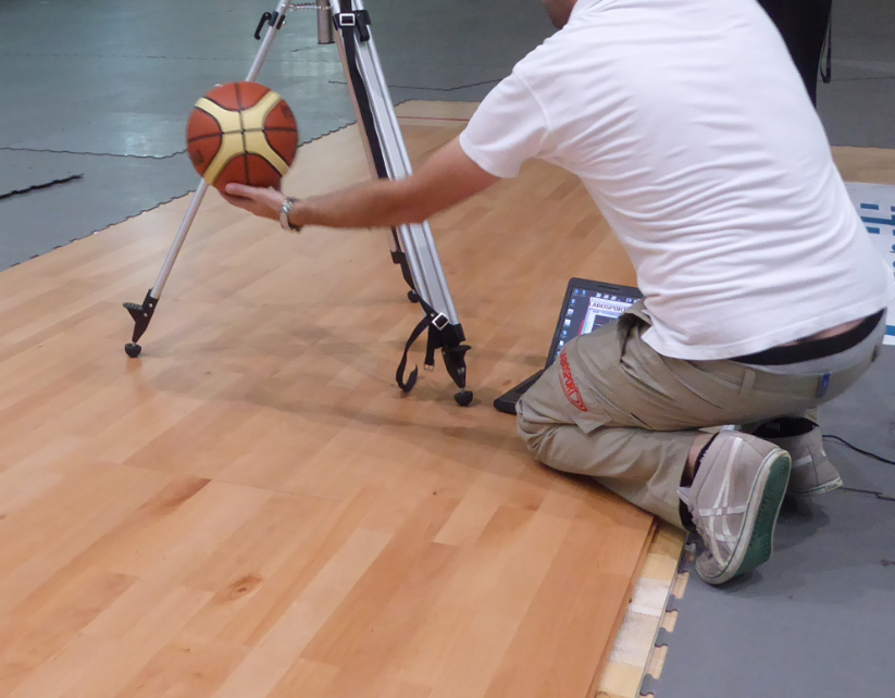 Dalla Riva touches perfection in the verification of the rebound of the ball with 98%