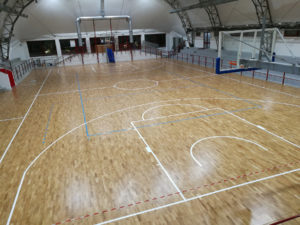 New FIBA approved sports parquet in Nardò