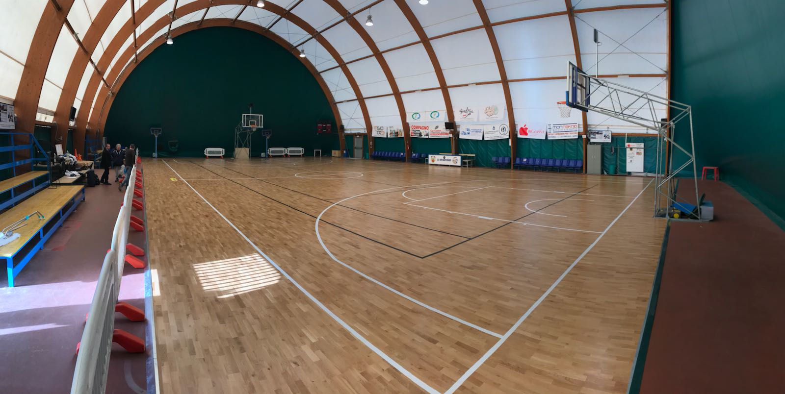 Dalla Riva finished sports flooring