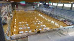 800 square meters of sanding for Serie A hockey
