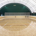 A solid and robust hockey floor