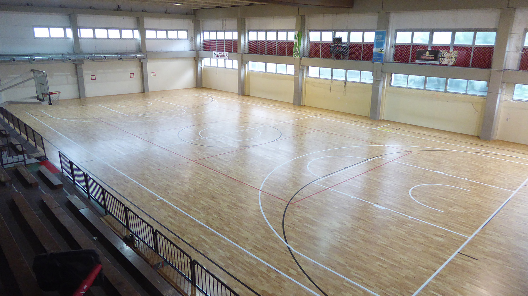 New face for the gym of the Majorana-Giorgi Institute of Genoa
