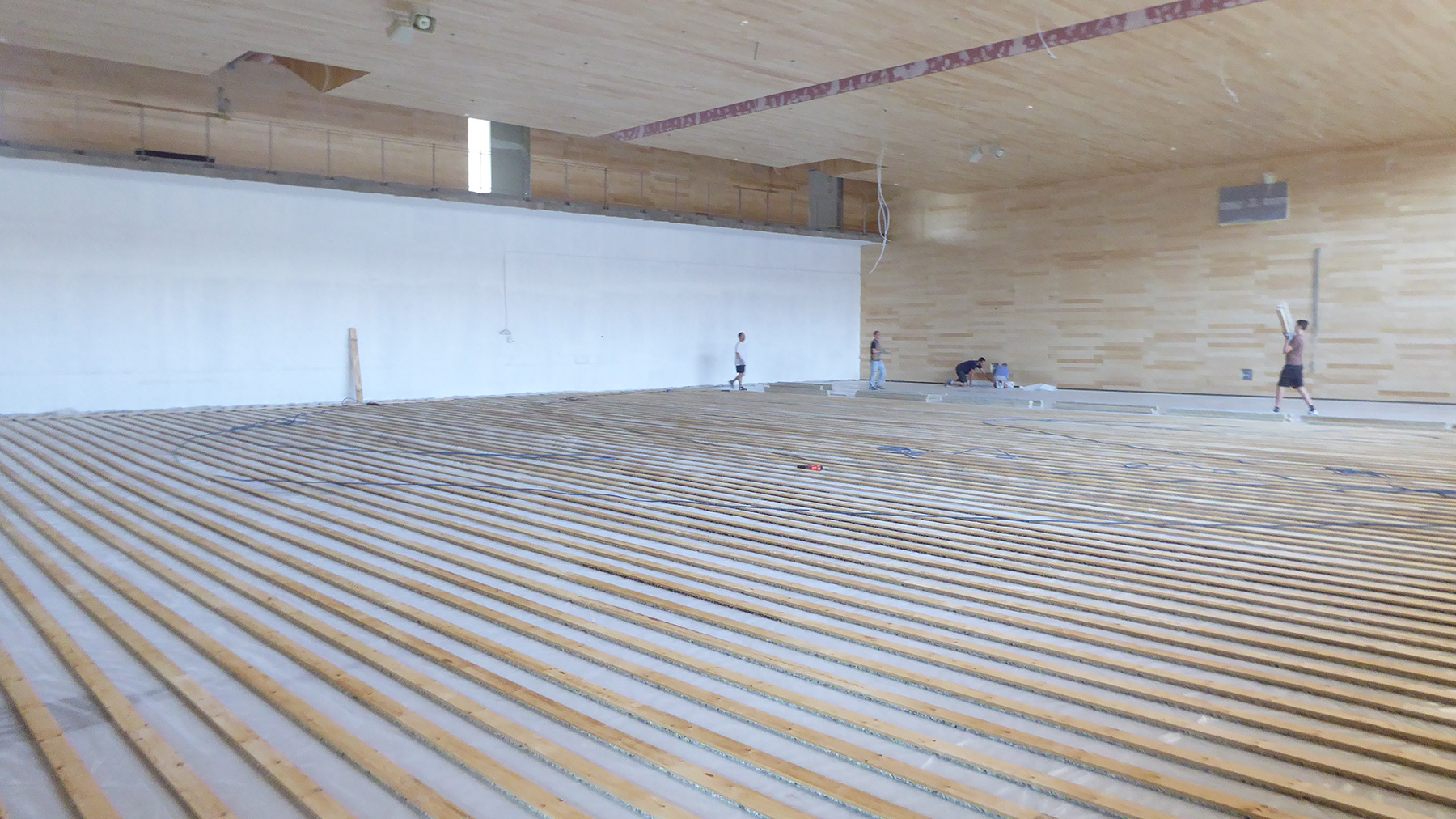 The laying operations of the joists