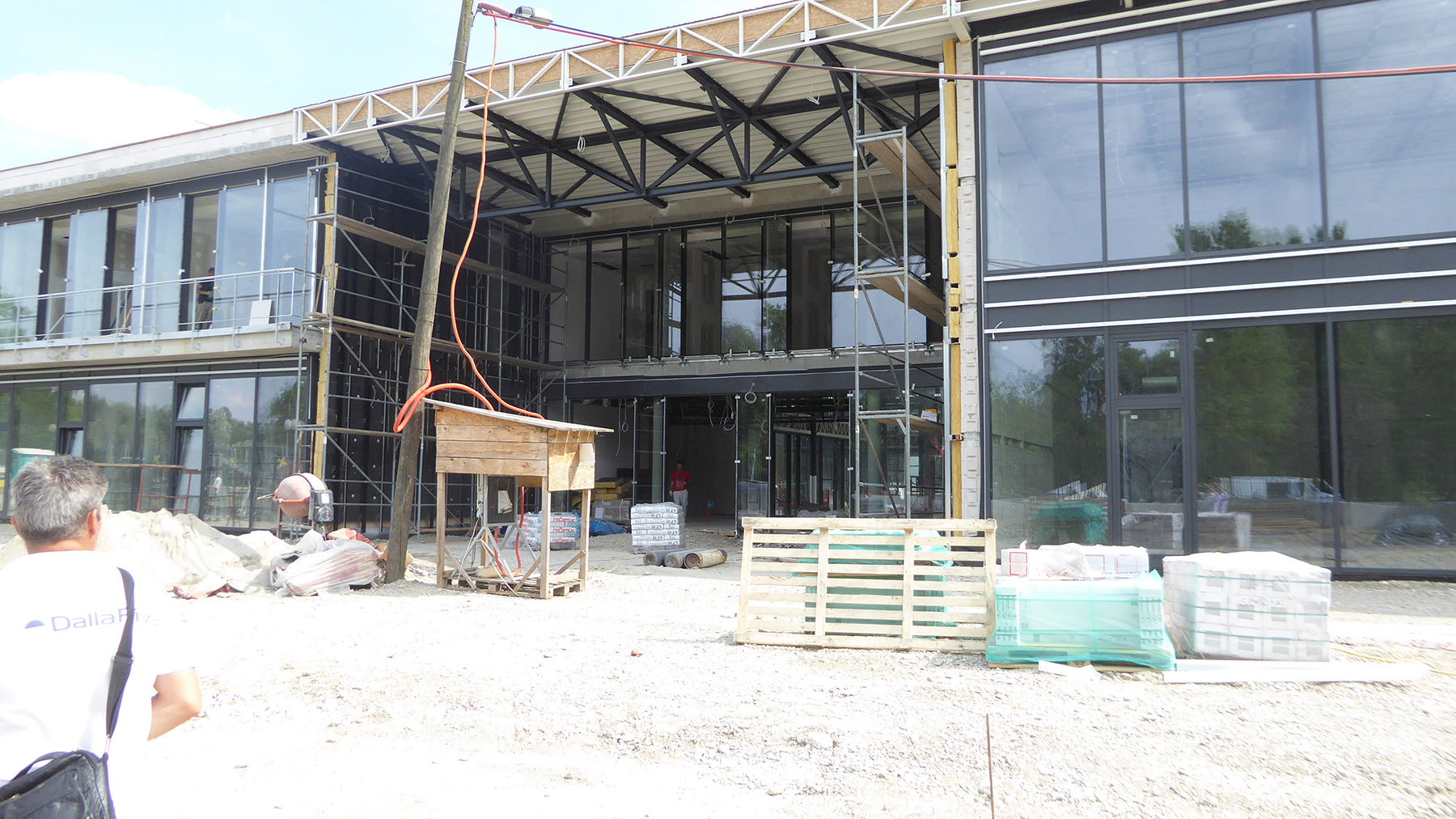 The design of the gym from the outside