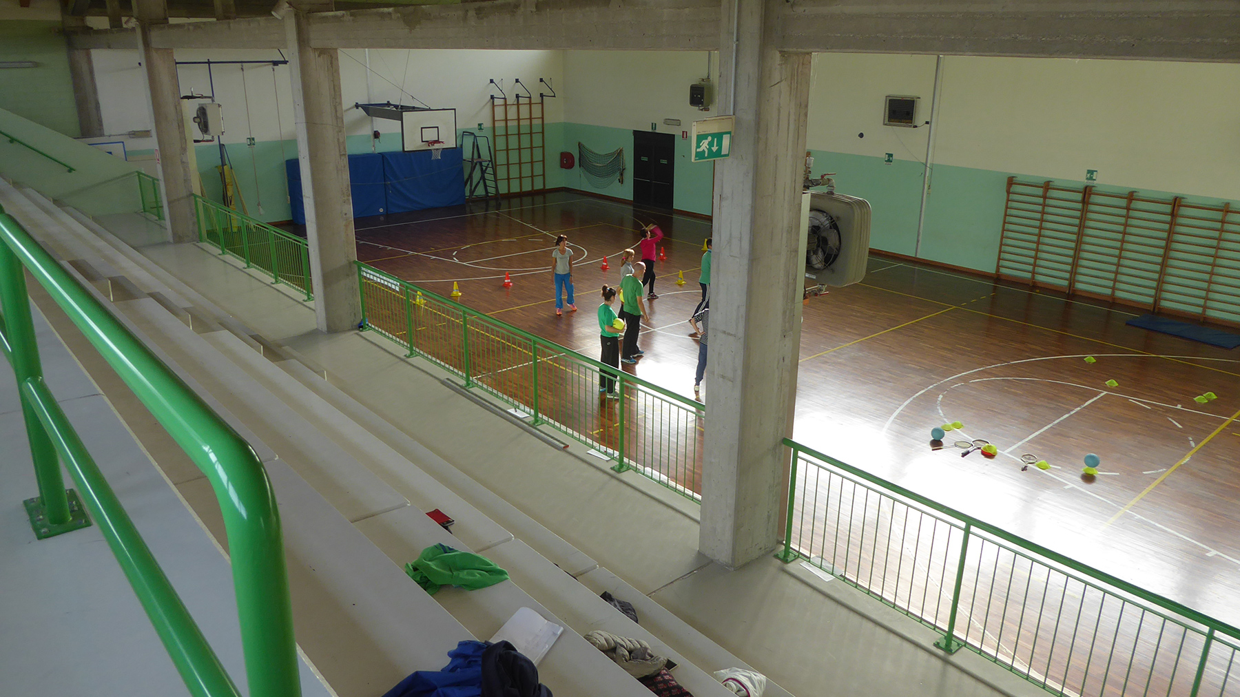 The gym before the intervention of the DR technicians