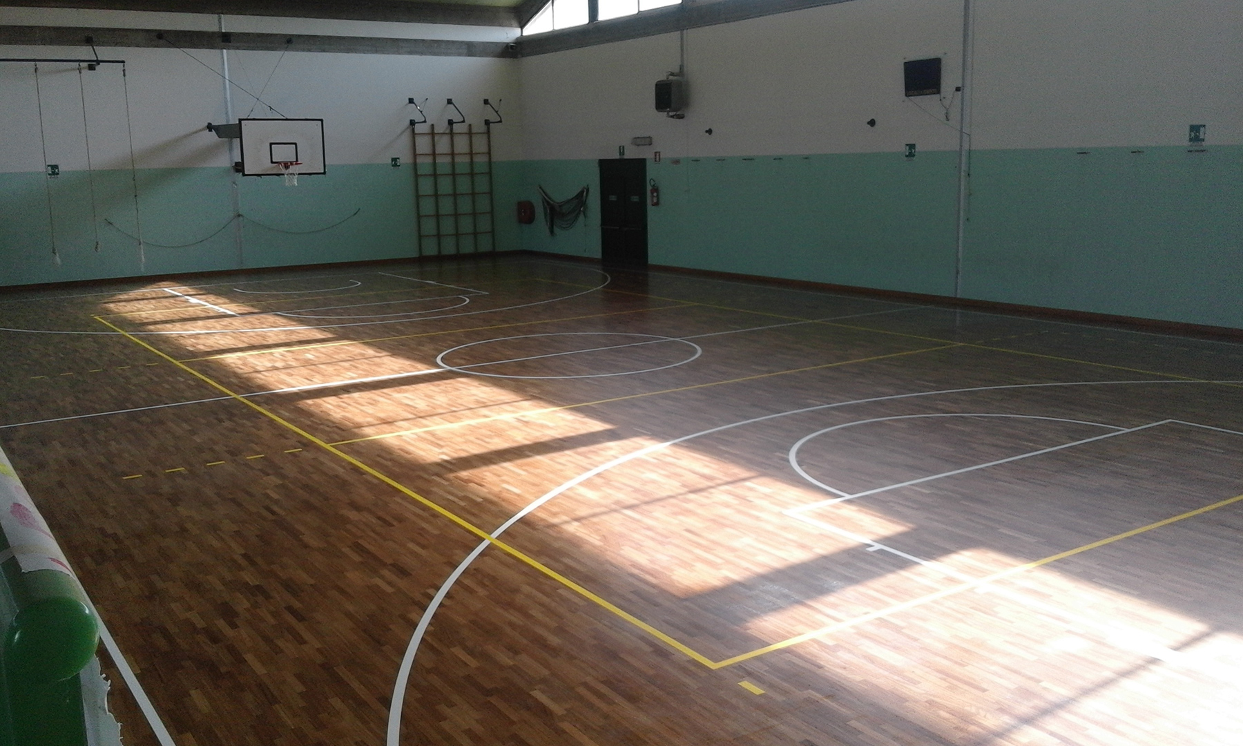 The floor looks new thanks to Dalla Riva Sportfloors