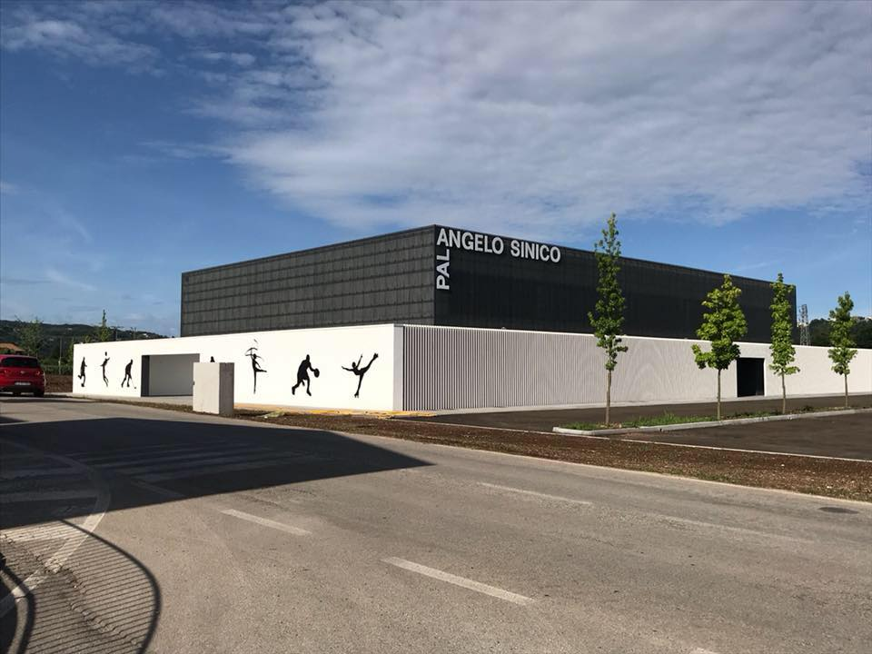 The new sports hall seen from the outside