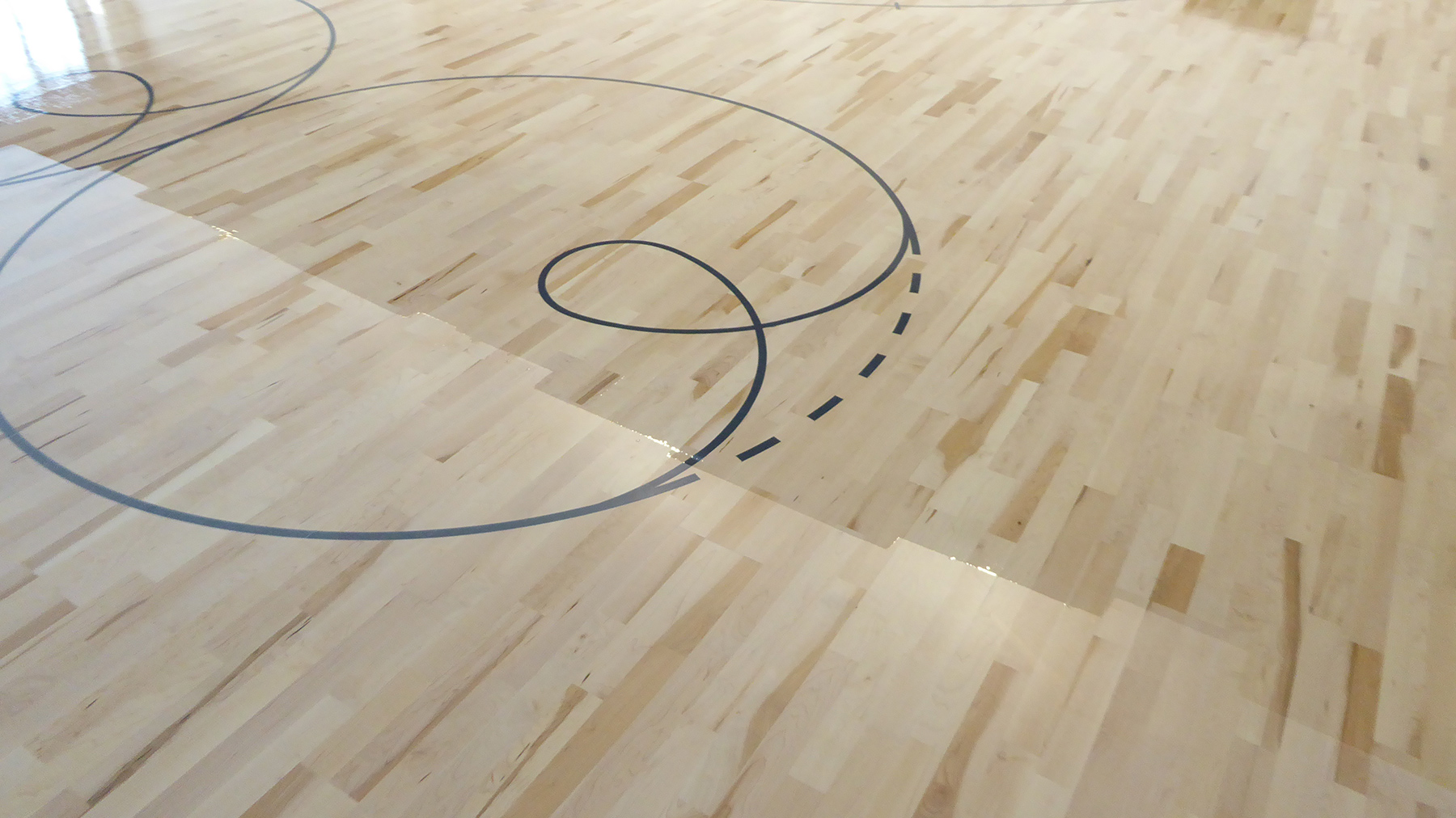 The painting of the flooring