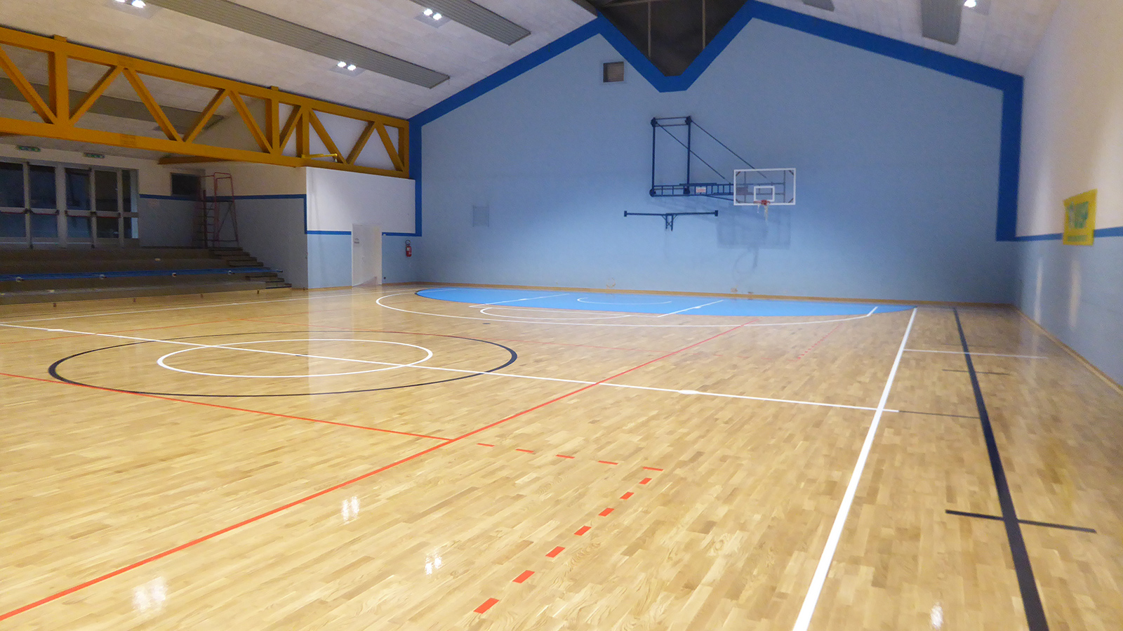 Work finished: restoration of the flooring for the Ceneselli sports clubs