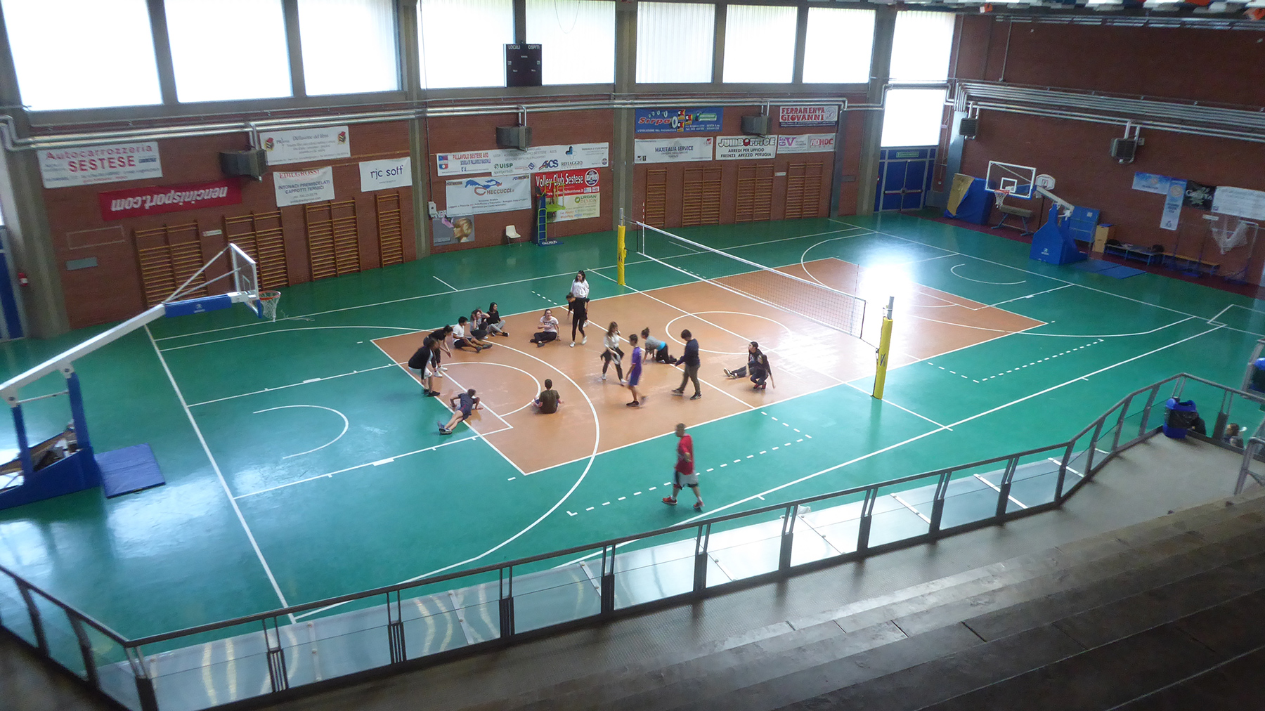 How the sports hall was presented before the intervention of Dalla Riva Sportfloors