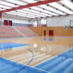 A high performance sports parquet with FIBA painting