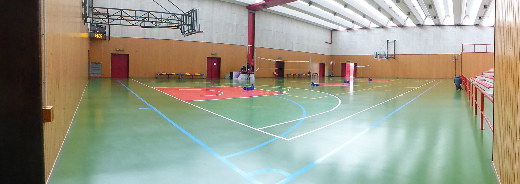 Istrana sports facility with rubber floor