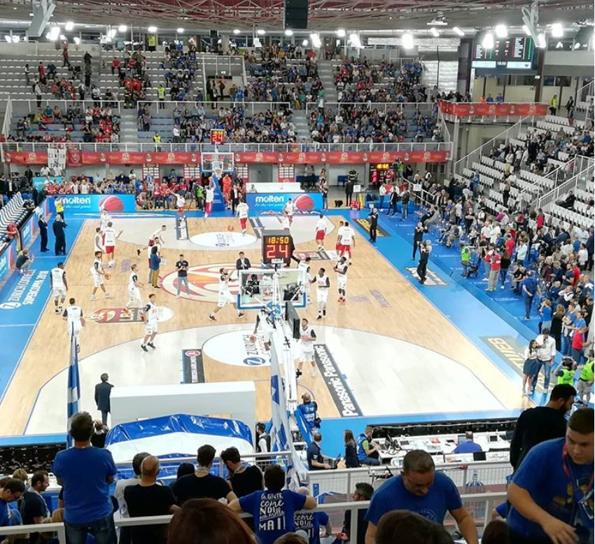 The new removable parquet will be the playing court for Brescia Basket