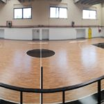 Two specific gymnasiums for basketball in the center of Rome