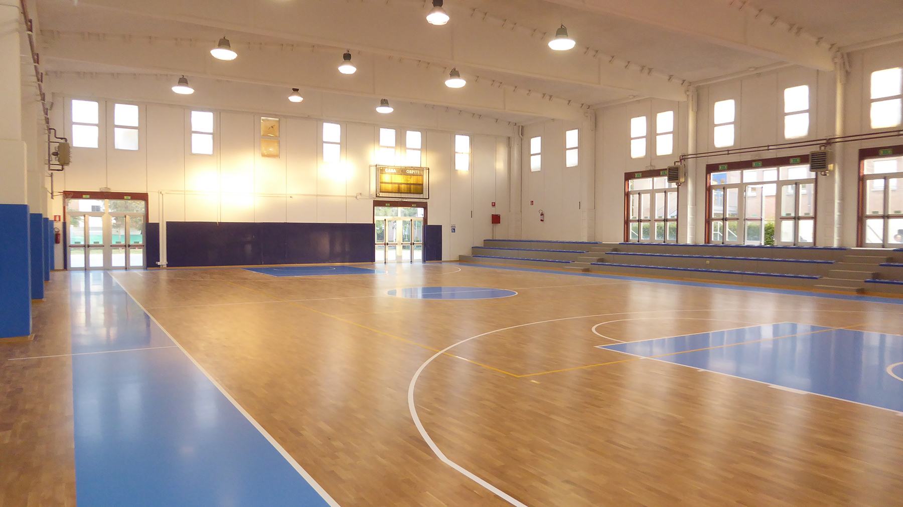 The sports facility ready to host the competitive activities again