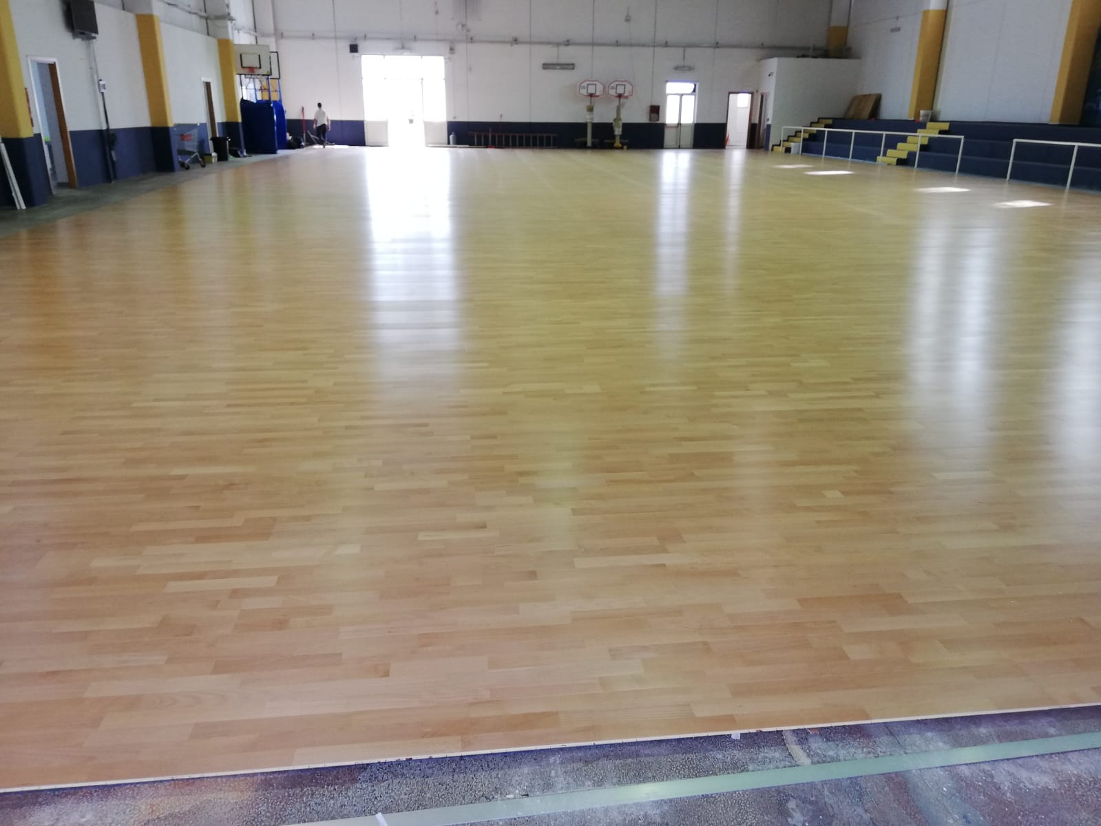 An oak flooring for local sports clubs
