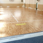 The new flooring signed DR for the elementary school of Saluzzo