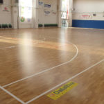 New sports parquet for the Agliana Basketball