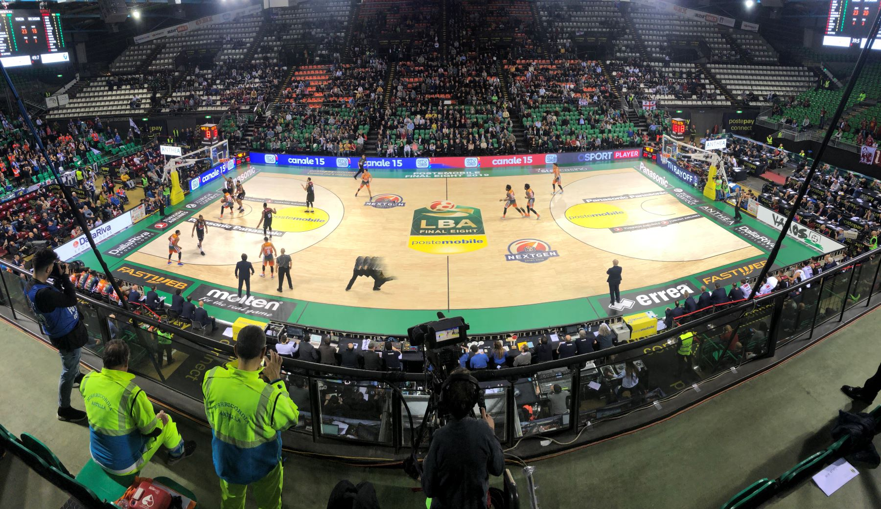 Live images from the Nelson Mandela Forum in Florence during the Semifinals