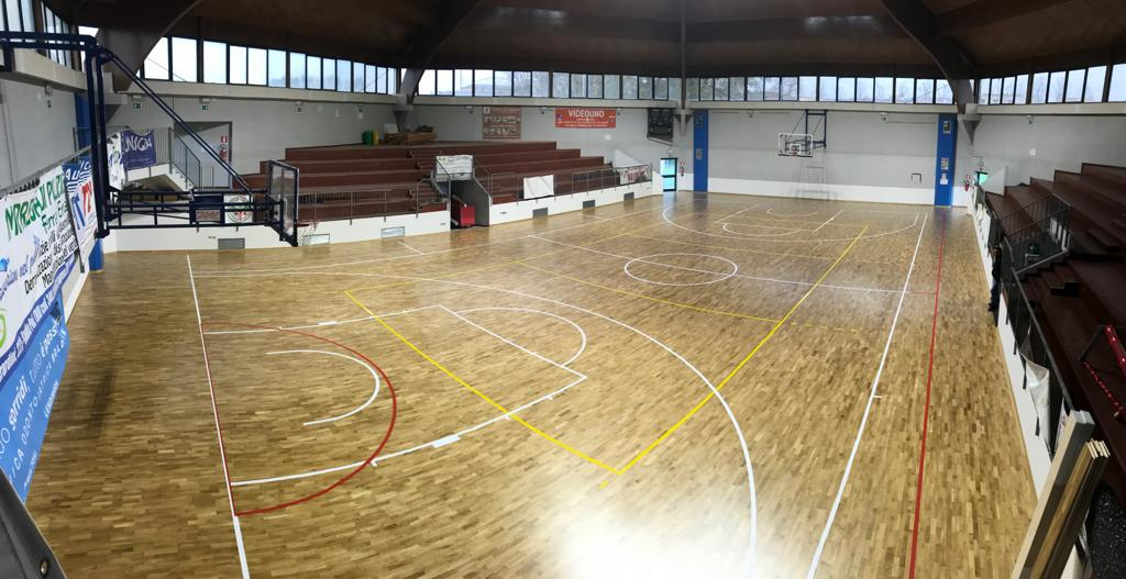 The new FIBA approved wooden flooring