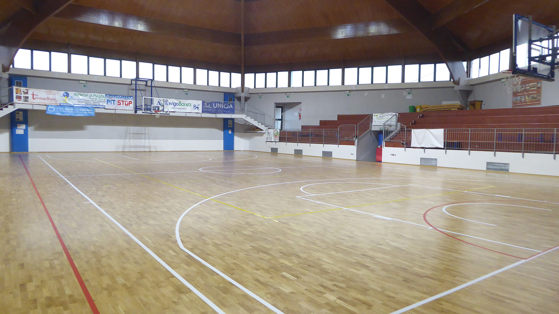 The basketball, volleyball and touchball fields have been marked