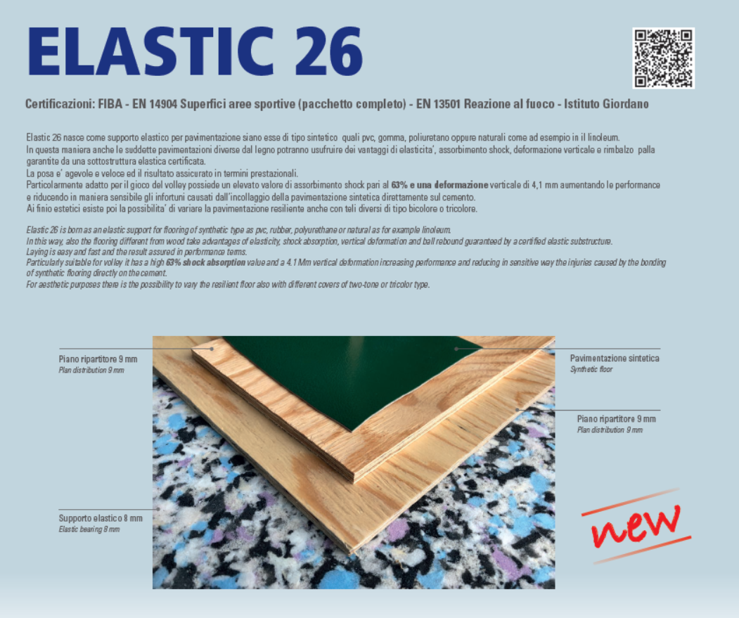 Elastic 26 the new product by Dalla Riva