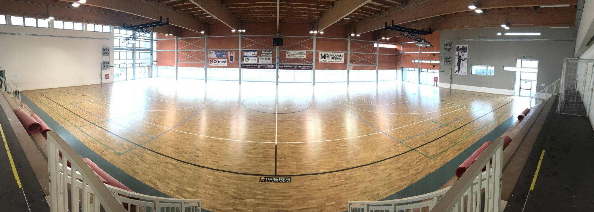 1280 square meters of robust oak parquet