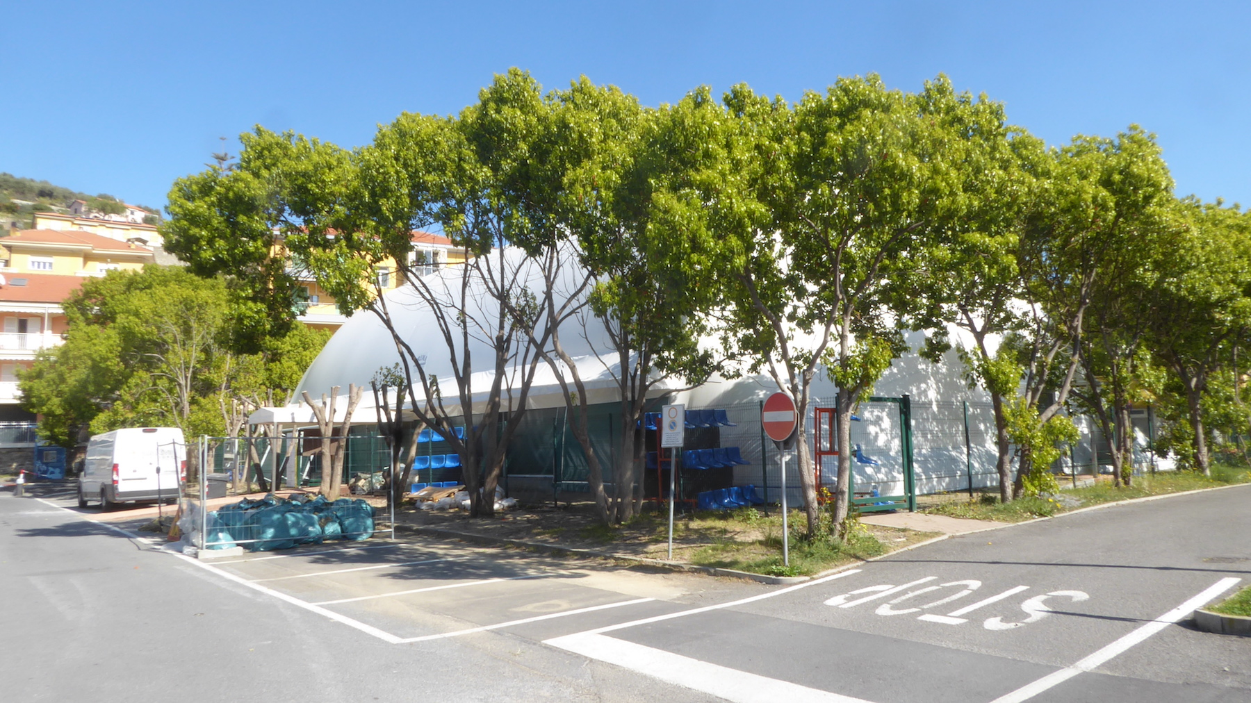 The sports facility seen from the outside