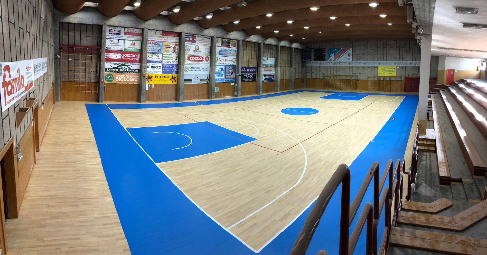 The flooring restored with the European standard