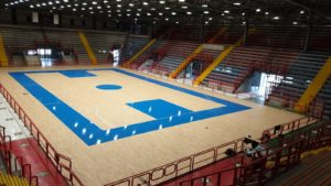 New sports parquet at the PalaBarbuto in Naples