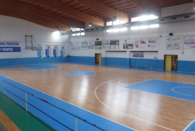 New sports parquet for the sports hall of Santa Maria di Sala