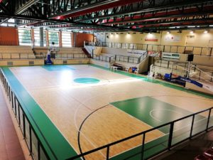 New parquet for the Teglio sports hall