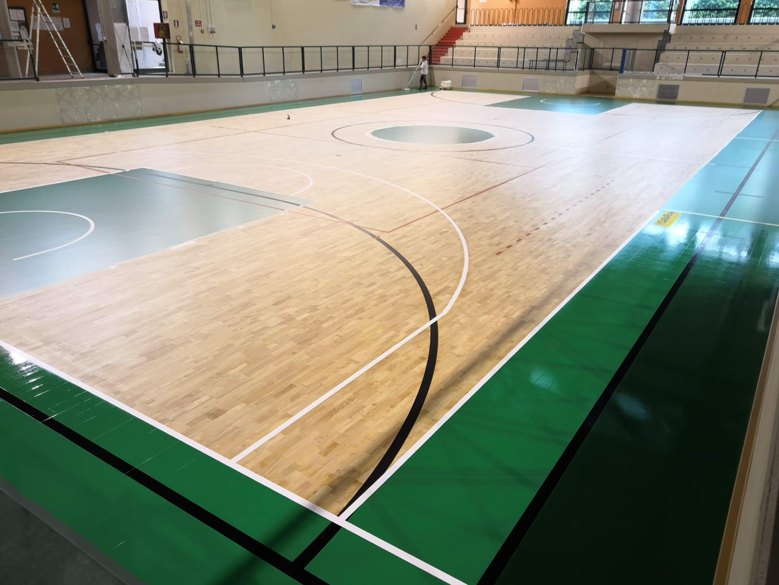 The final result of sports flooring