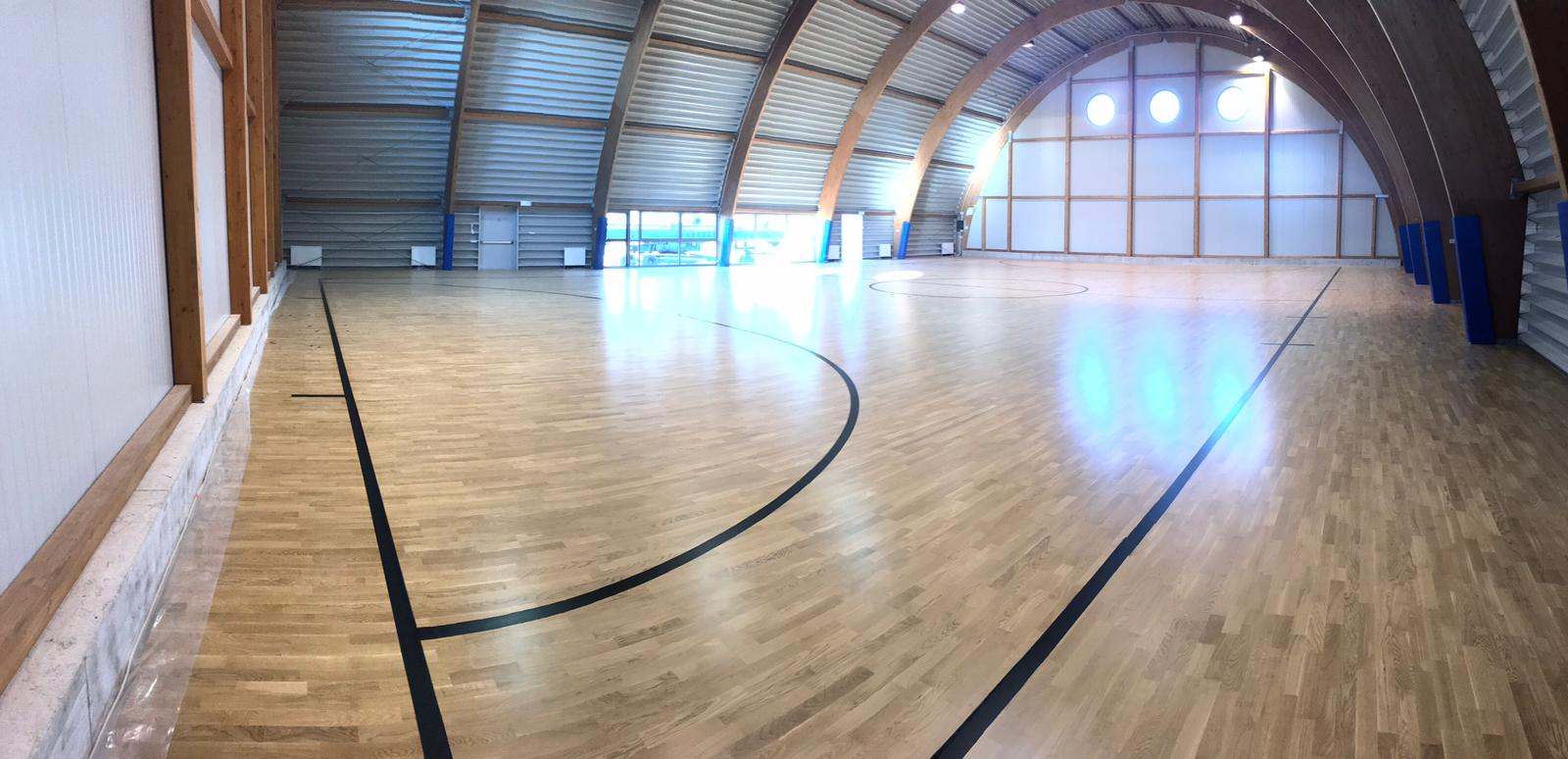 The new sports parquet designed by Dalla Riva