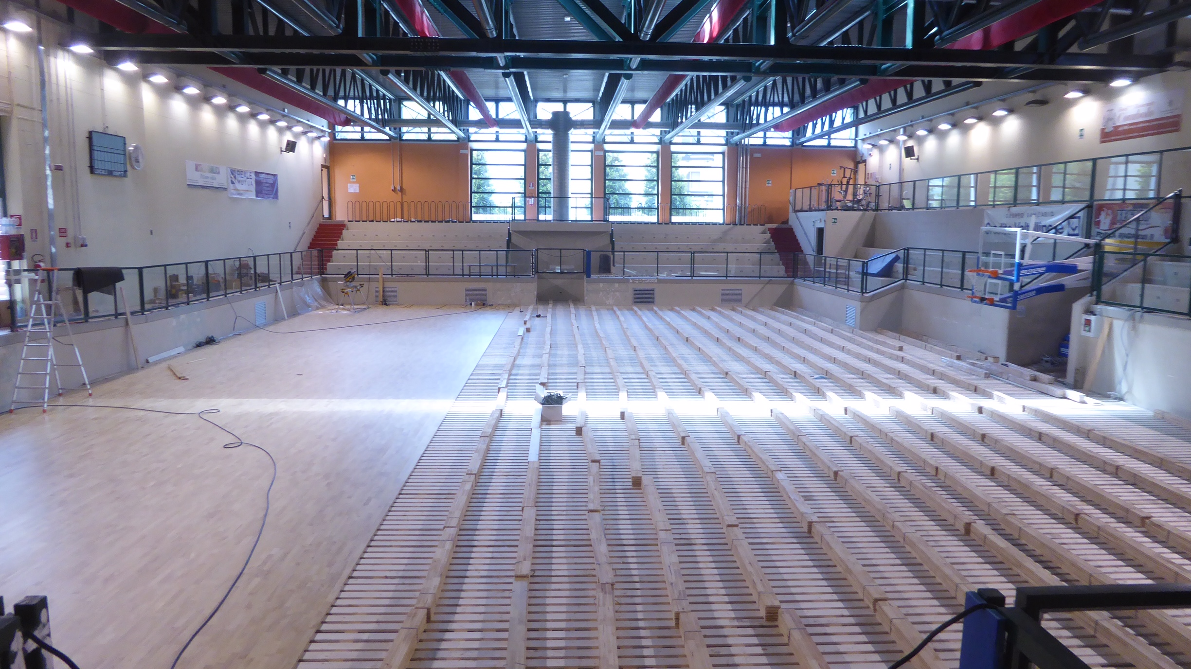 The Valtellina sports facility is starting to change