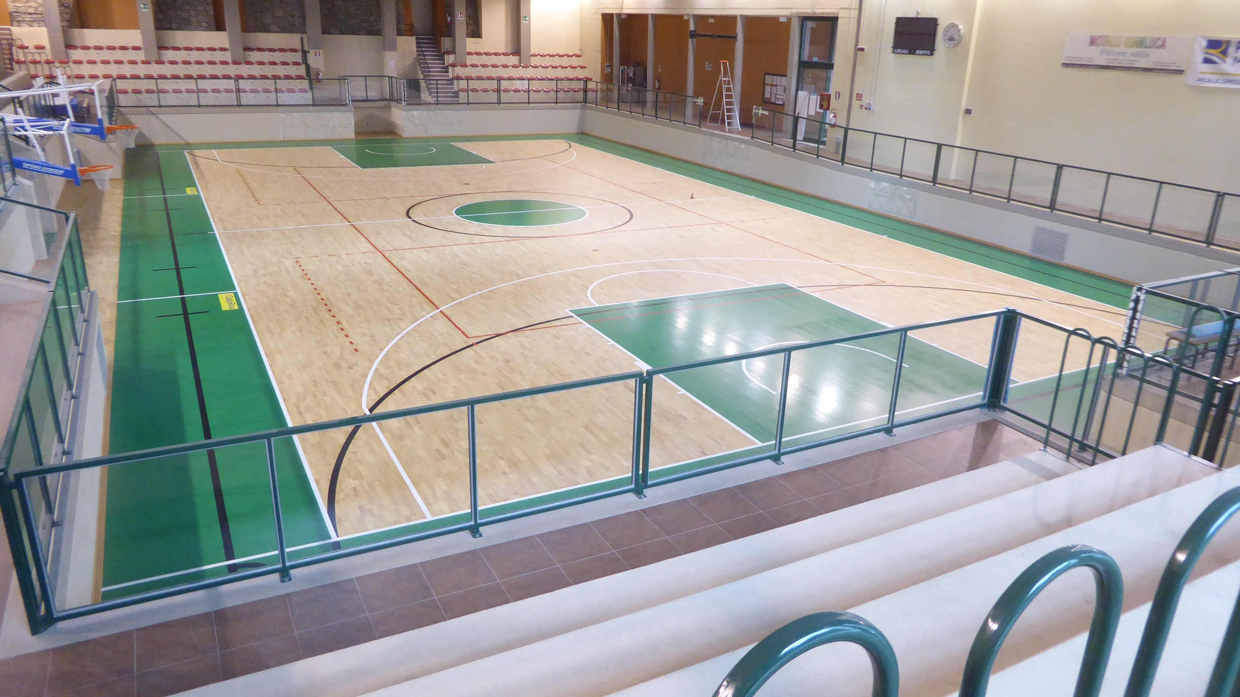 The FIBA approved sports flooring