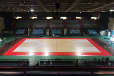 The sports parquet of Italian Basketball Supercup 2019 is produced and signed by Dalla Riva