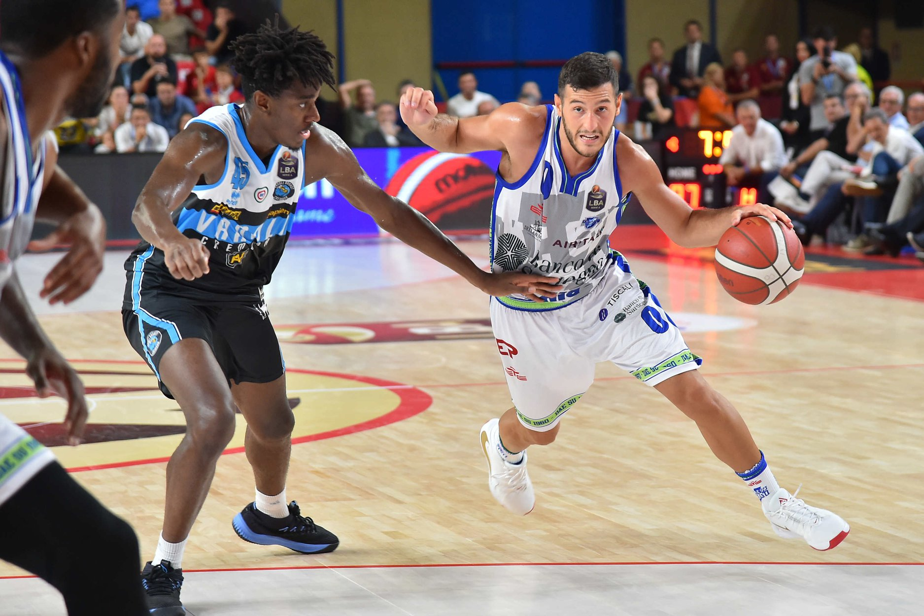 A game action during the semi-final between Sassari and Cremona