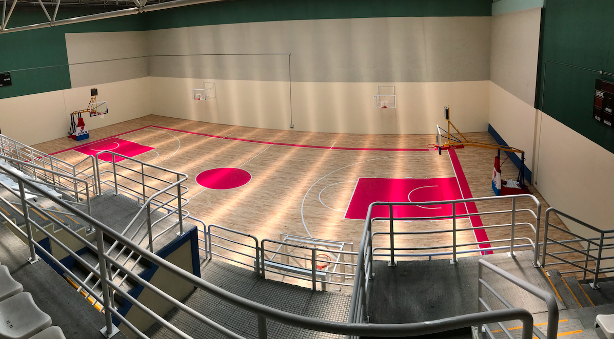 A sports facility where only basketball will be played