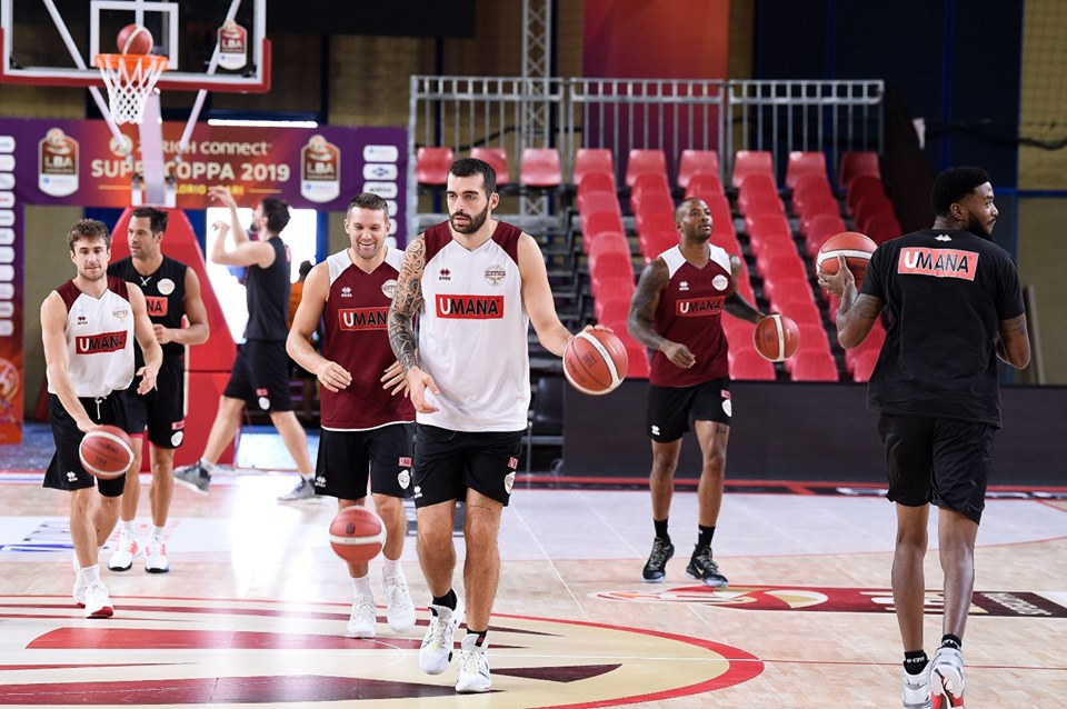 Umana Reyer Venice players during the warm-up