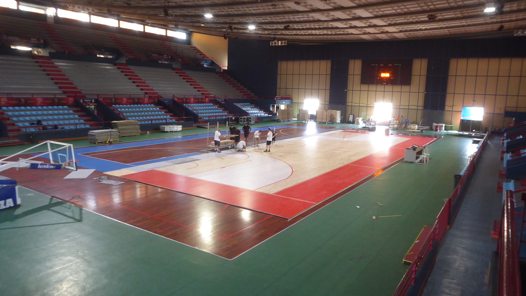 Yet another collaboration between Lega Basket and Dalla Riva Sportfloors