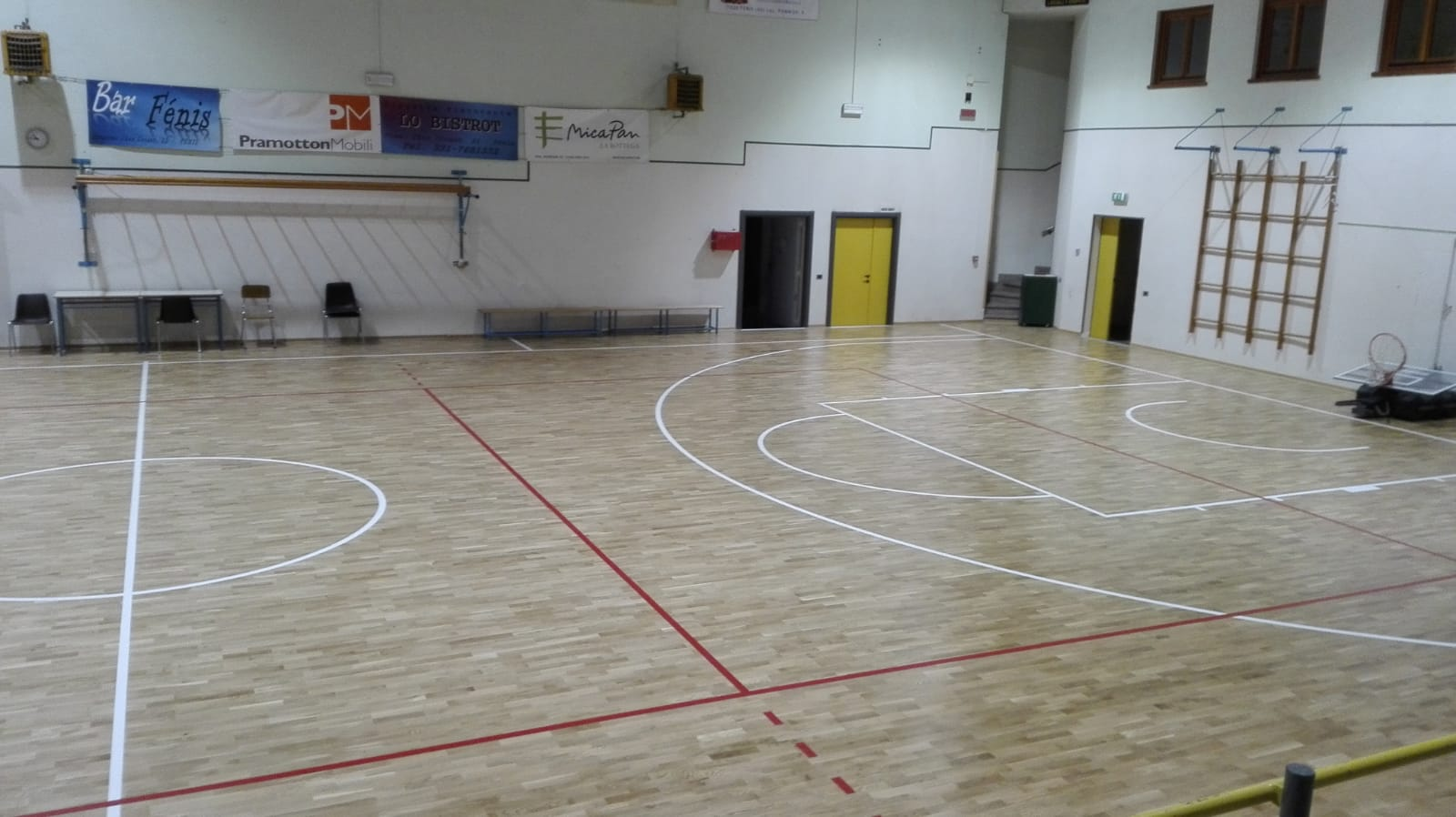 Basketball and volleyball will be practiced in the Valle d'Aosta sports facility