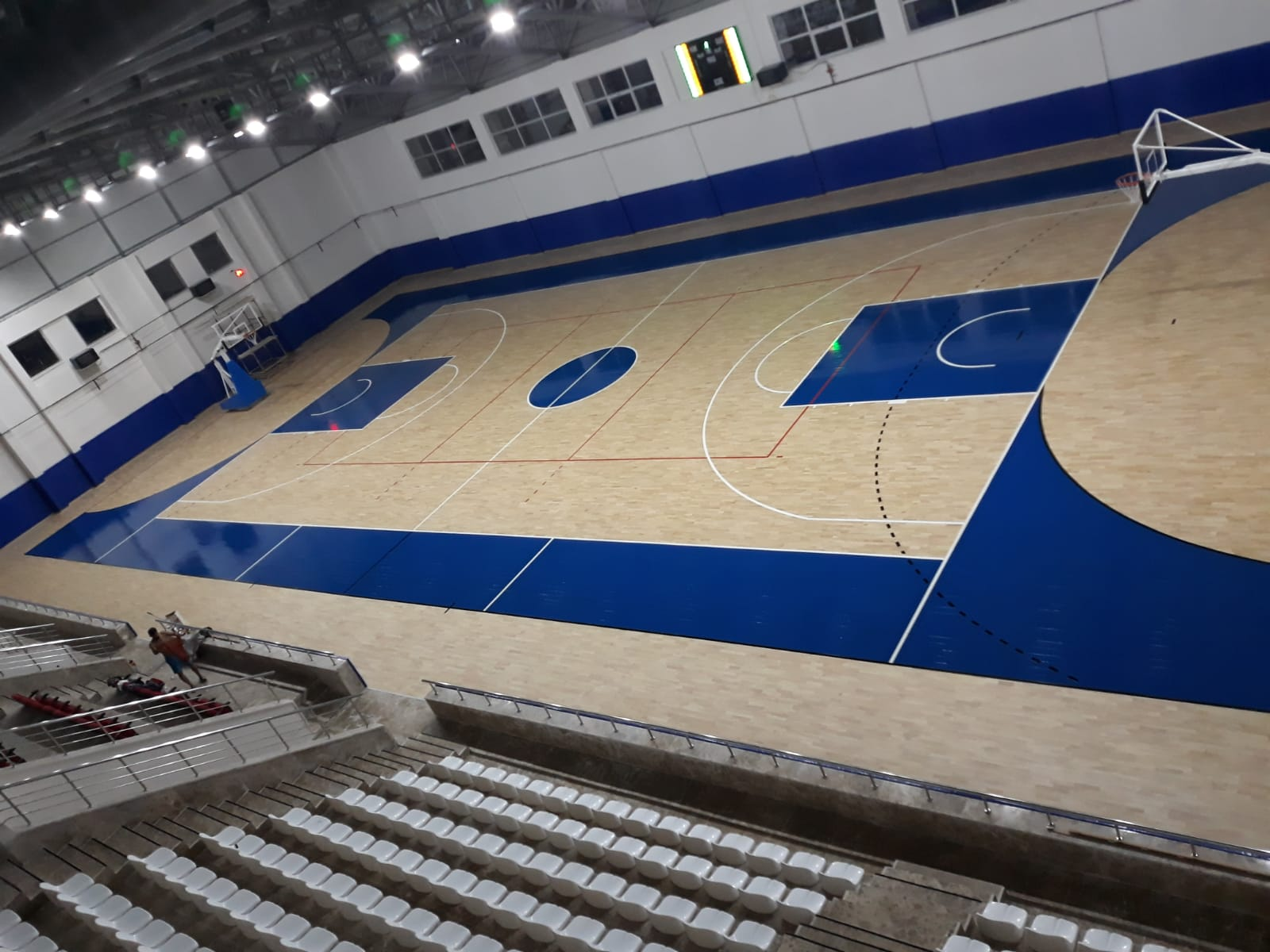In Turkey a new sports parquet in hevea rubber wood