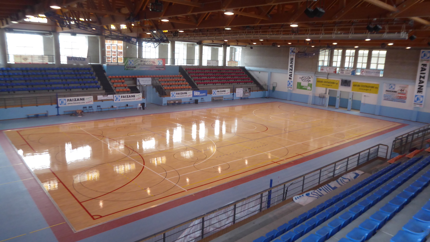 The sporting parquet of Vicenza has been restored