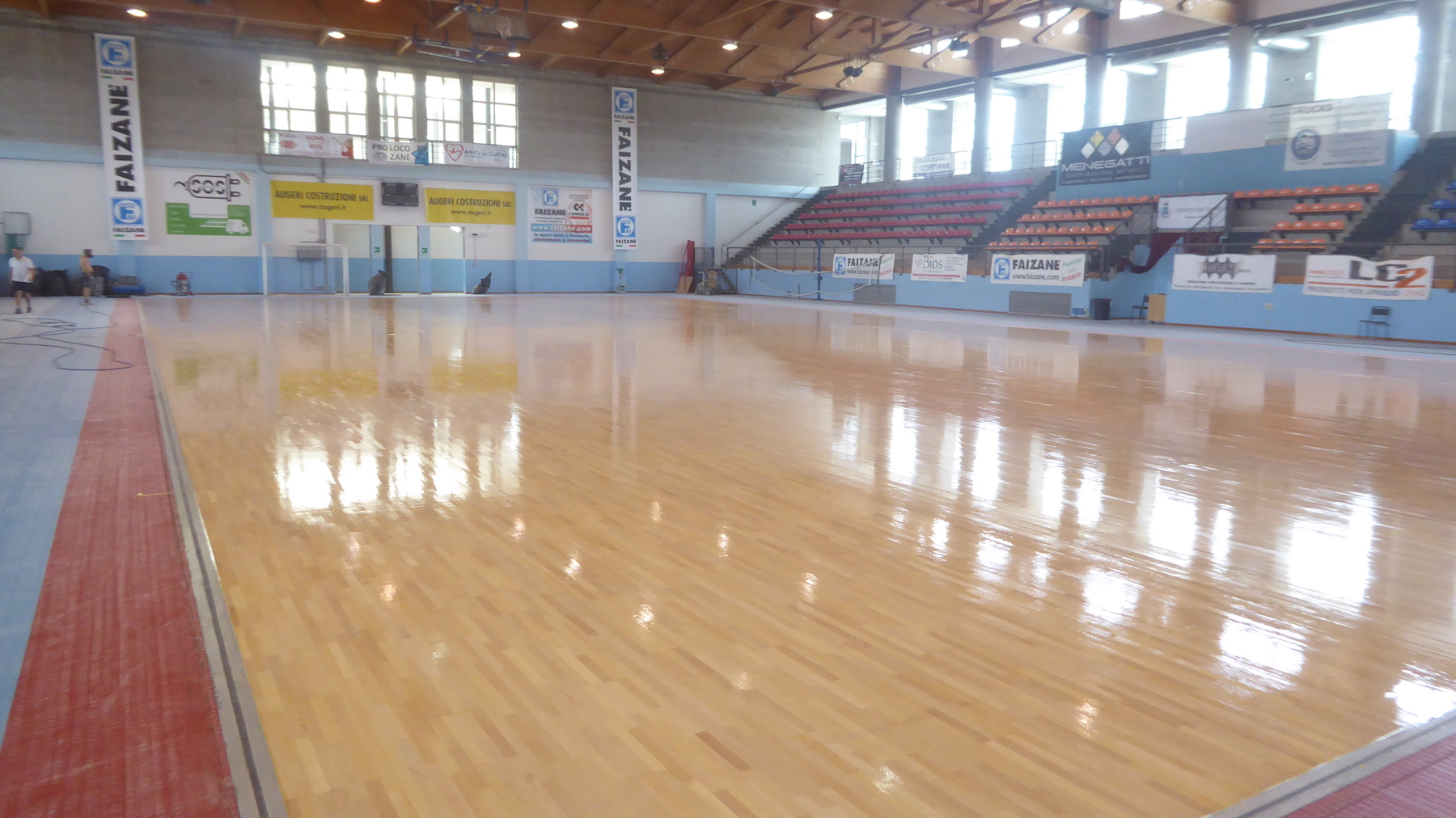 Painted sports flooring