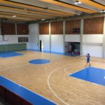 Replacing the old and installing a new sports parquet