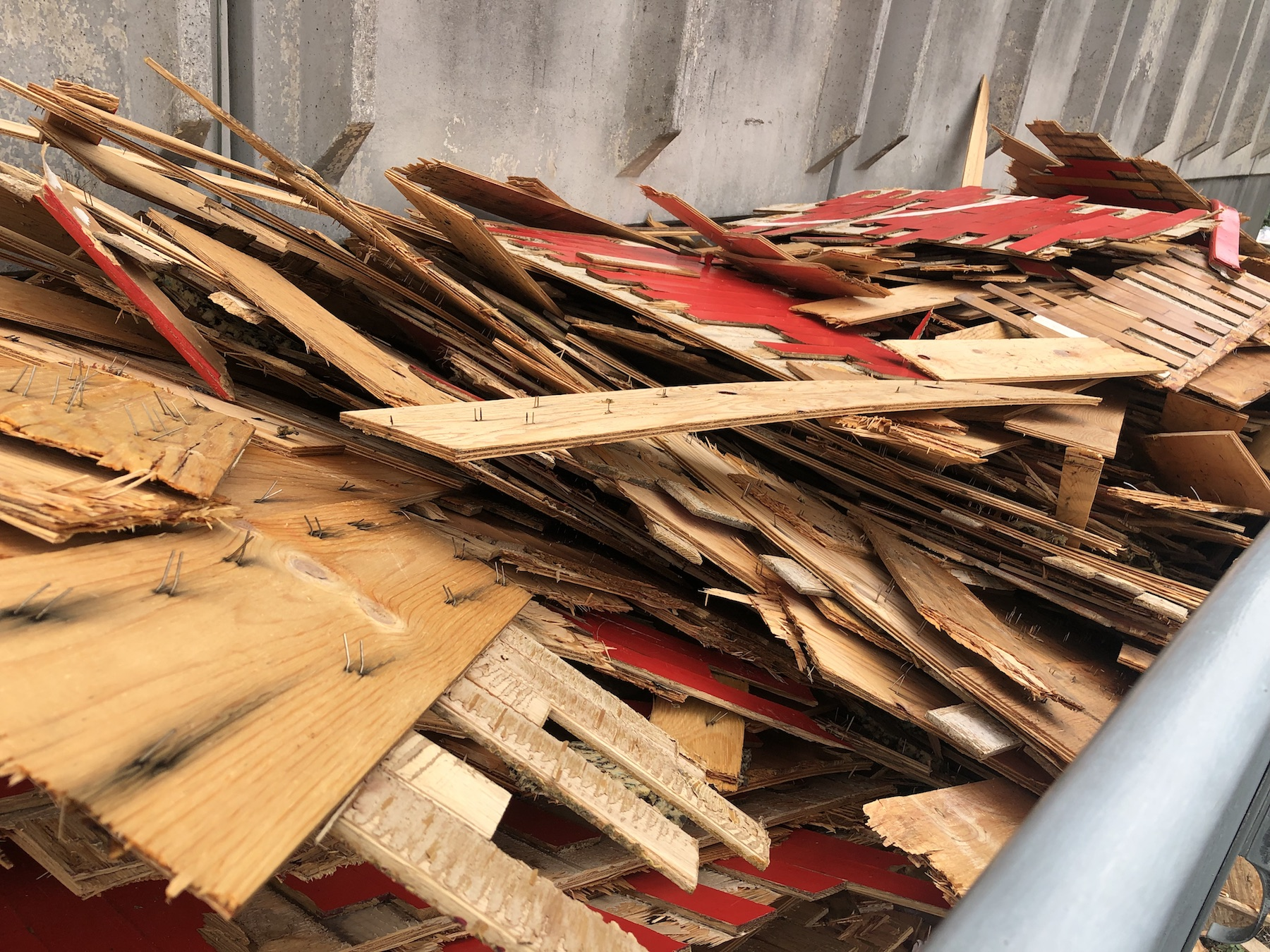 The old parquet disposed of