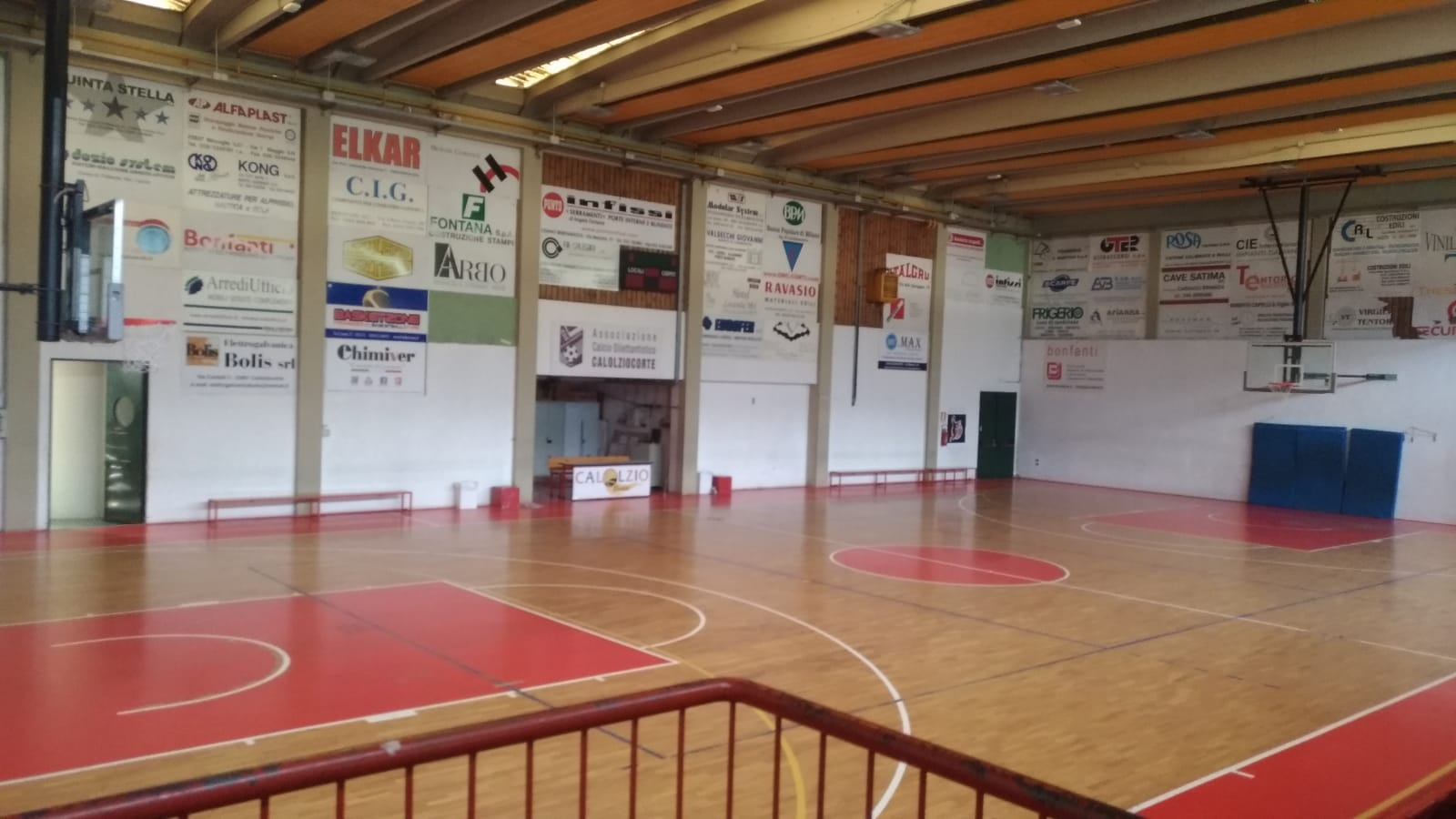 The work done at Calolziocorte's gym
